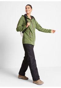 Bluza rozpinana z polaru, długi rękaw bonprix matowa zieleń mchu- szary. Kolor: zielony. Materiał: polar. Długość rękawa: długi rękaw. Długość: długie