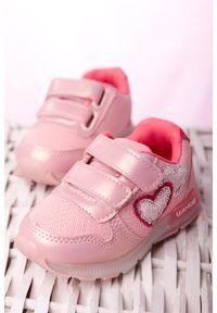 Casu - różowe buty sportowe na rzepy casu x506a. Zapięcie: rzepy. Kolor: różowy