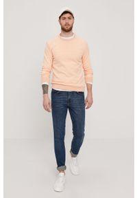 Pomarańczowa bluza nierozpinana Marciano Guess na co dzień, z aplikacjami, casualowa