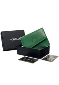 4U CAVALDI - Portfel damski zielony Cavaldi RD-DB-05-GCL-8706 TU. Kolor: zielony. Materiał: skóra