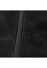 R.Polański - Muszkieterki R.POLAŃSKI - 0803 Czarny Zamsz. Kolor: czarny. Materiał: skóra, zamsz. Szerokość cholewki: normalna. Sezon: zima, jesień. Obcas: na obcasie. Styl: elegancki. Wysokość obcasa: średni