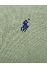 Ralph Lauren - RALPH LAUREN - Zielona koszulka polo Terry Spa. Okazja: na co dzień. Typ kołnierza: polo. Kolor: zielony. Materiał: bawełna, prążkowany. Wzór: haft. Styl: casual