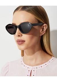 SAINT LAURENT - Czarne okulary przeciwsłoneczne. Kolor: czarny