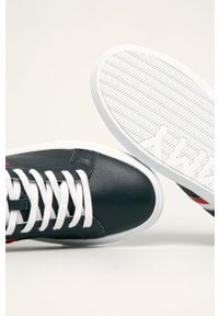 Niebieskie sneakersy TOMMY HILFIGER na sznurówki, z cholewką, z okrągłym noskiem