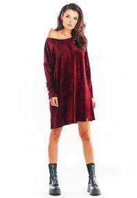 Czerwona sukienka Awama mini