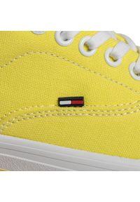 Żółte półbuty Tommy Jeans casualowe, na co dzień