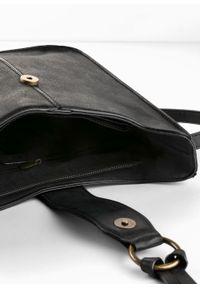 Czarna torebka bonprix skórzana, na ramię