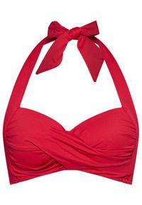 Seafolly Góra od bikini Twist Soft Cup Halter 30806-065 Czerwony. Kolor: czerwony
