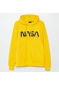 Żółta bluza Cropp z kapturem #1