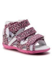 Różowe sandały Bartek z aplikacjami, casualowe, na lato, na co dzień