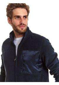 TOP SECRET - Bluza rozpinana męska rozpinana. Kolor: niebieski