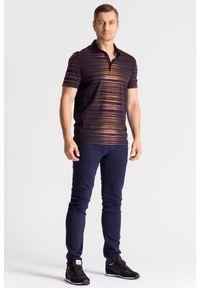 Koszulka polo Versace Collection w jednolite wzory, sportowa, polo