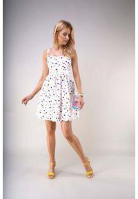 Sukienka wizytowa Nommo na lato, w kolorowe wzory