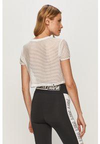 LABELLAMAFIA - LaBellaMafia - T-shirt. Okazja: na co dzień. Kolor: biały. Materiał: dzianina. Wzór: nadruk. Styl: casual