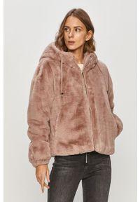Różowy płaszcz Geox na co dzień, casualowy