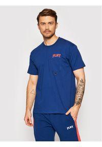 PLNY Textylia T-Shirt Stanford PT-KO-P6-00004 Granatowy Regular Fit. Kolor: niebieski
