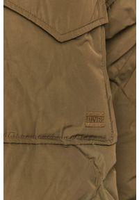 Oliwkowa kurtka Levi's® biznesowa, raglanowy rękaw, na co dzień, bez kaptura