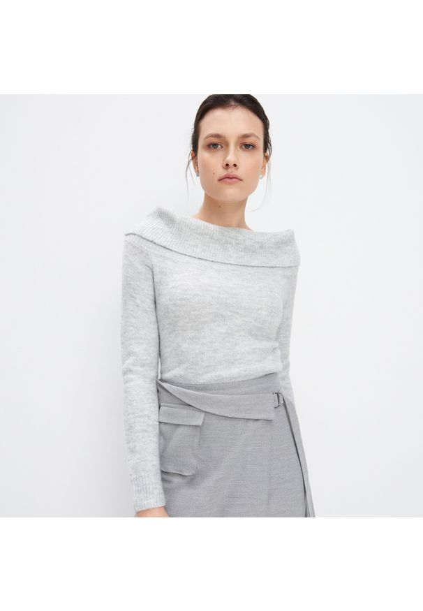 Szary sweter Mohito