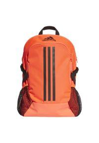 Pomarańczowy plecak Adidas casualowy, w paski