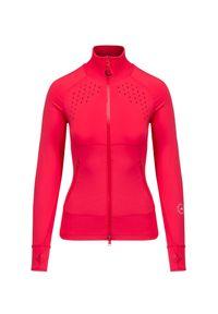 Adidas by Stella McCartney - Bluza ADIDAS BY STELLA McCARTNEY TRUEPUR MIDL. Kolor: różowy. Materiał: tkanina, skóra, materiał