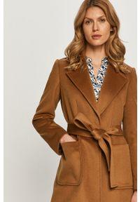 Brązowy płaszcz MAX&Co. casualowy, bez kaptura, na co dzień