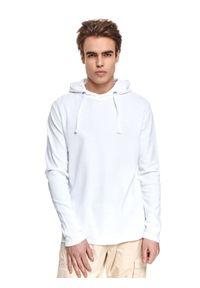 Biała bluza TOP SECRET z kapturem