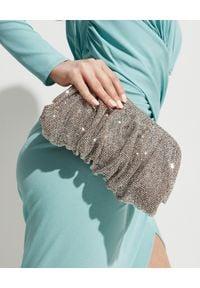 BENEDETTA BRUZZICHES - Srebrna torebka z kryształów Venus Large White Lady. Kolor: srebrny. Wzór: aplikacja. Styl: wizytowy. Rodzaj torebki: do ręki