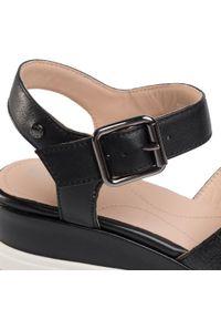 Czarne sandały Geox casualowe, na co dzień