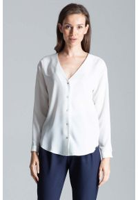 Koszula Figl z dekoltem w serek, elegancka