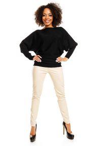 Sweter krótki, z dekoltem w łódkę