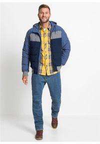 Niebieska kurtka bonprix z kapturem, na zimę