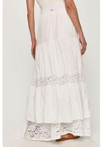 Biała spódnica Guess na co dzień, gładkie, casualowa