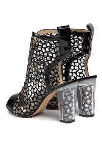 Czarne sandały Azurée eleganckie