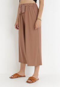 Born2be - Brązowe Spodnie Dezirria. Okazja: na co dzień. Kolor: brązowy. Materiał: dzianina, materiał, prążkowany. Sezon: lato, wiosna. Styl: casual