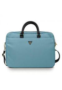 Niebieska torba na laptopa Guess elegancka