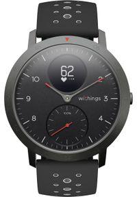 Czarny zegarek WITHINGS sportowy, smartwatch