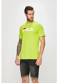T-shirt Fila z okrągłym kołnierzem, z nadrukiem, na co dzień