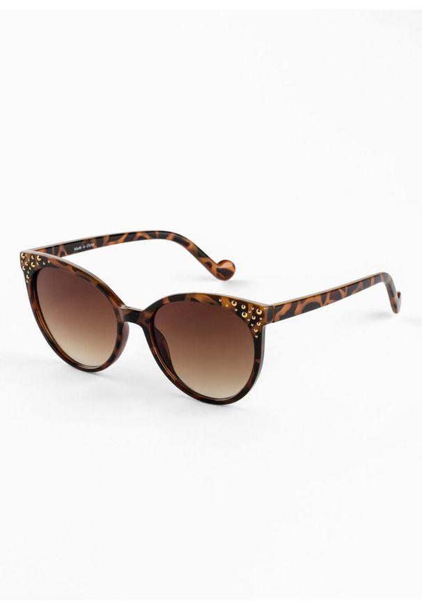 Okulary przeciwsłoneczne bonprix brązowo-złocisty