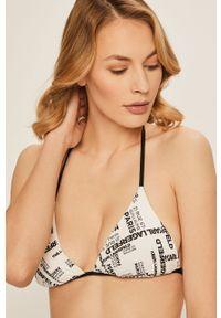 Biały strój kąpielowy dwuczęściowy Karl Lagerfeld z odpinanymi ramiączkami