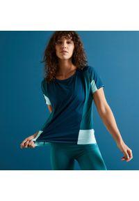 Koszulka do fitnessu DOMYOS krótka, z krótkim rękawem