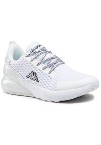 Kappa - Sneakersy KAPPA - Colp 242841OC White. Okazja: na co dzień. Kolor: biały. Materiał: materiał. Szerokość cholewki: normalna. Sezon: lato. Styl: casual