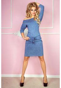 Niebieska sukienka Numoco sportowa, sportowa, w kwiaty