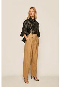 Oliwkowe spodnie materiałowe Miss Sixty