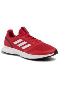 Czerwone buty do biegania Adidas Adidas Cloudfoam, z cholewką
