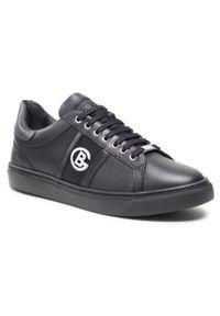 Baldinini - Sneakersy BALDININI - 196346XVITE000000KNX Nero. Okazja: na co dzień. Kolor: czarny. Materiał: skóra. Wzór: aplikacja. Styl: sportowy, klasyczny, casual