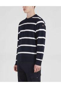 PAUL & SHARK - Bawełniany sweter w paski. Okazja: na co dzień. Kolor: biały. Materiał: bawełna. Wzór: paski. Styl: casual