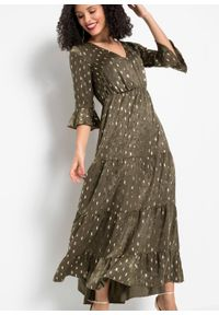 Zielona sukienka bonprix maxi, elegancka