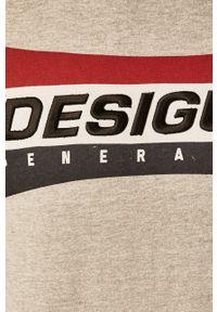 Szara bluza nierozpinana Desigual na co dzień, casualowa, z aplikacjami