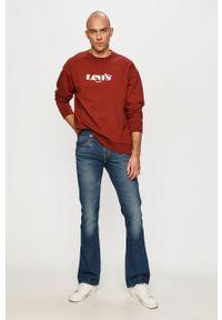 Levi's® - Levi's - Bluza bawełniana. Okazja: na spotkanie biznesowe, na co dzień. Kolor: czerwony. Materiał: bawełna. Wzór: nadruk. Styl: casual, biznesowy