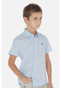 Niebieska koszula Mayoral krótka, na co dzień